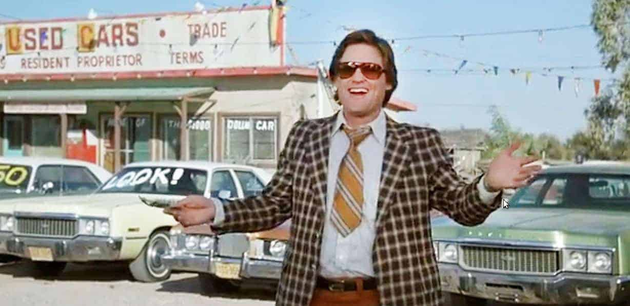 We're not selling used cars